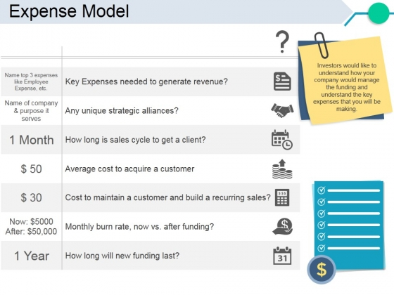 Expense Model Template 2 Ppt PowerPoint Presentation Styles Examples