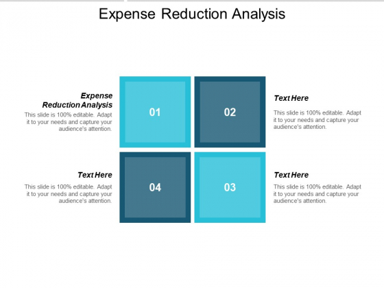 Expense Reduction Analysis Ppt PowerPoint Presentation Infographic Template Summary Cpb