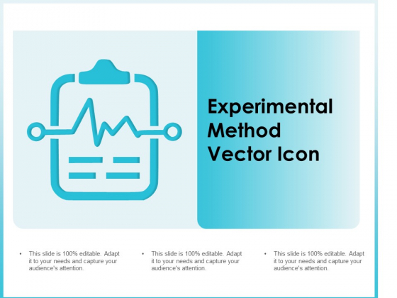 Experimental Method Vector Icon Ppt Powerpoint Presentation Slides Graphics