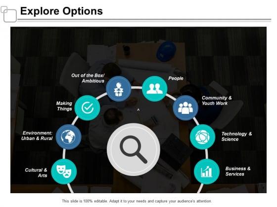 Explore Options Ppt Powerpoint Presentation Summary Microsoft