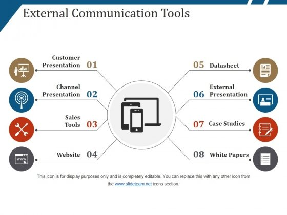 External Communication Tools Ppt PowerPoint Presentation Gallery Graphics