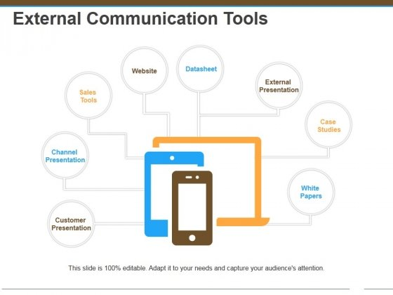 External Communication Tools Ppt Powerpoint Presentation Gallery Influencers