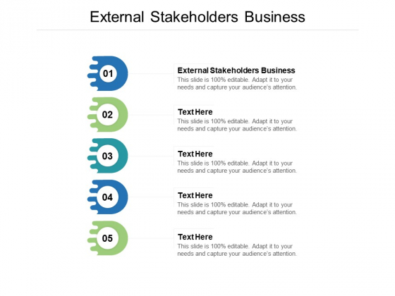 External Stakeholders Business Ppt PowerPoint Presentation Inspiration Introduction Cpb