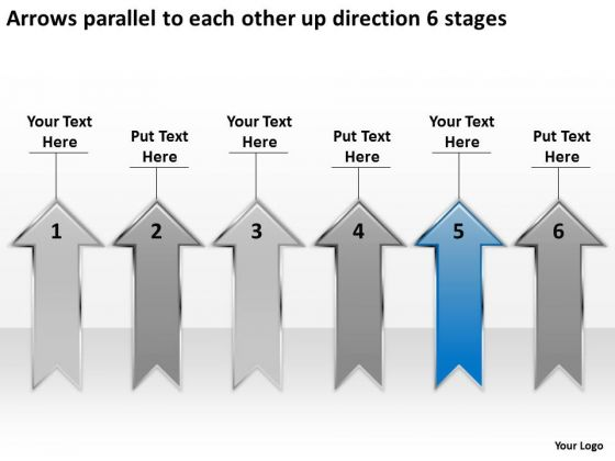 Each Other Up Direction 6 Stages Tips For Writing Business Plan PowerPoint Slides