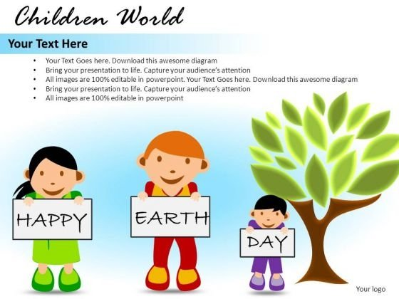 Earth Day Children World PowerPoint Slides And Ppt Diagram Templates