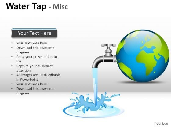 Earth Drop Water Tap PowerPoint Slides And Ppt Diagram Templates