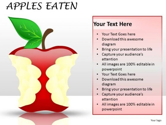 Eaten Apple Fruits PowerPoint Image Graphics Slides