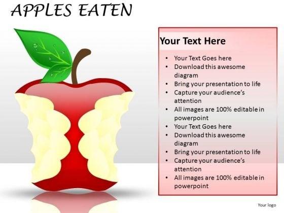 Eaten Apple Fruits PowerPoint Image Graphics Slides