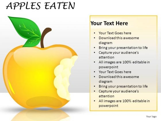 Eating Market Share Apples PowerPoint Slides And Ppt Diagrams Templates