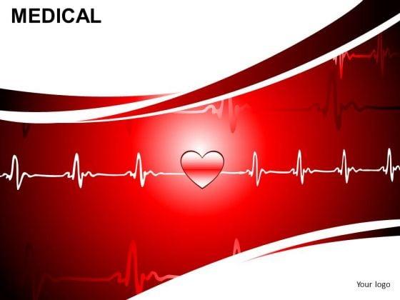 Ecg Ekg Heart Health PowerPoint Editable Slides Ppt Templates