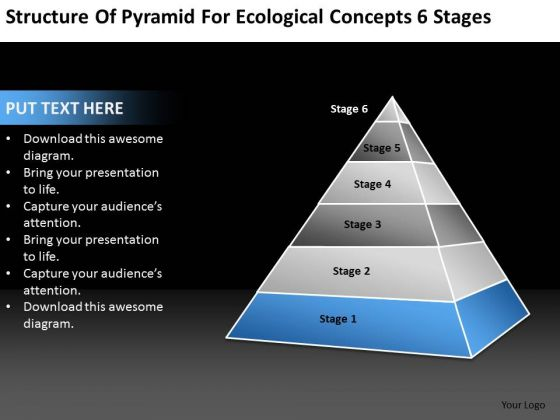 Ecological Concepts 6 Stages Ppt Sample Business Plan Template PowerPoint Slides