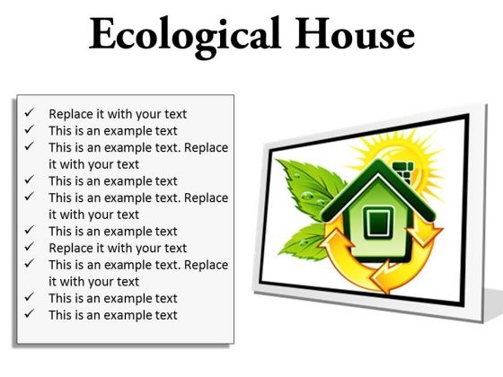 Ecological House Environment PowerPoint Presentation Slides F