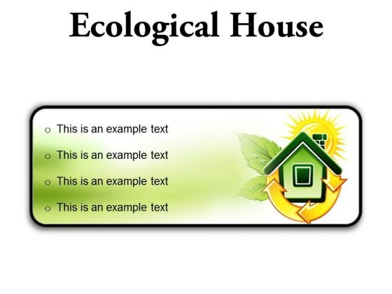 Ecological House Environment PowerPoint Presentation Slides R