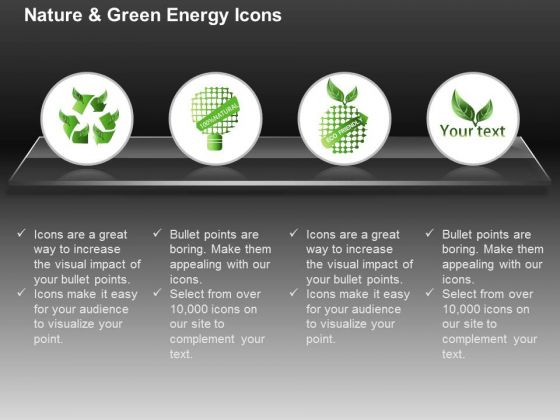 Ecology And Green Energy With Eco Friendly Text Ppt Slides Graphics