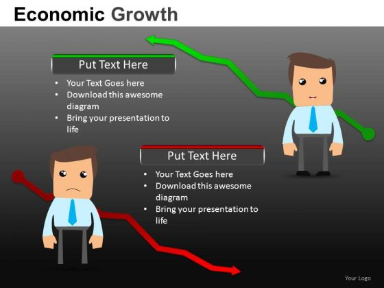 Economic Growth And Recession PowerPoint Templates