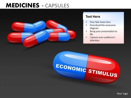 Economic Stimulus Pills PowerPoint Templates Economic Reform Ppt Slides