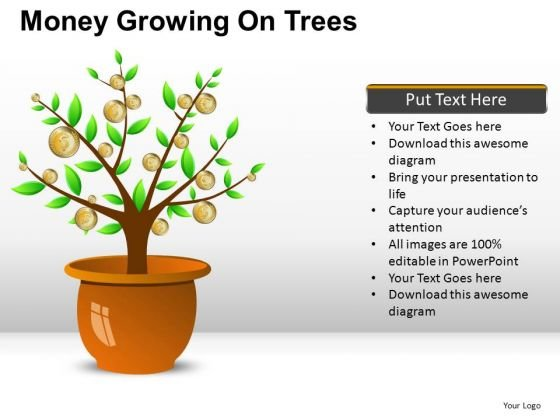 Economy Money Growing On Trees PowerPoint Slides And Ppt Diagram Templates