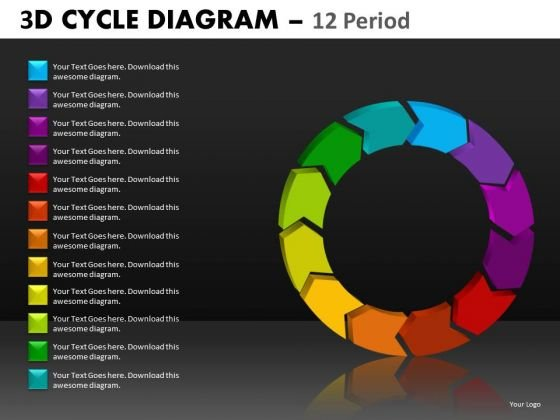 Editable 1-12 Stages Cycle Diagrams For PowerPoint Templates