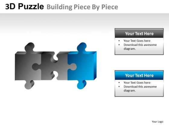 Editable 3d Puzzle Buidling Piece PowerPoint Slides And Ppt Diagram Templates
