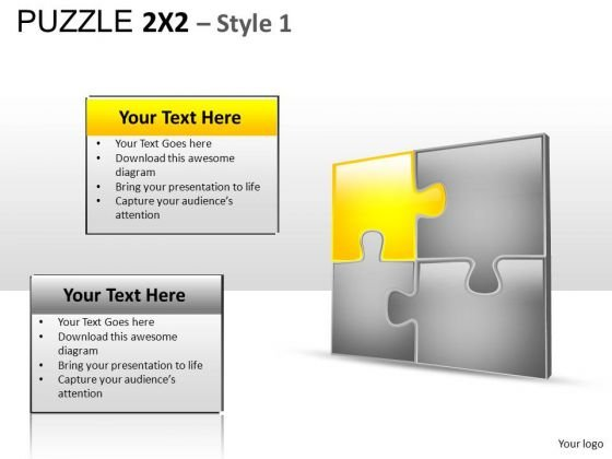 Editable 4 Puzzles PowerPoint Diagram And PowerPoint Slides