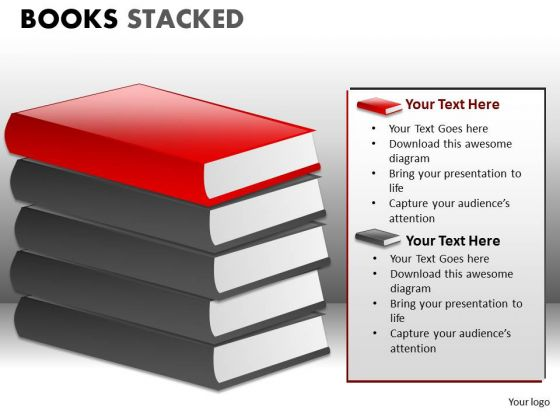 Editable Books Clipart PowerPoint Ppt Slides