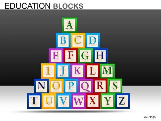 Editable Building Blocks PowerPoint Graphics