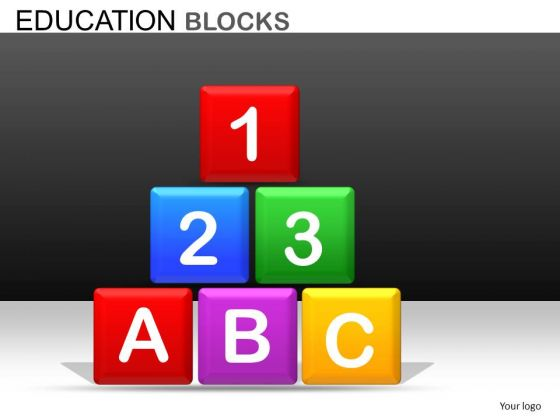 Editable Building Blocks PowerPoint Slides