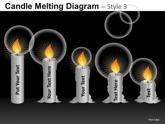Editable Candle Diagrams PowerPoint Templates