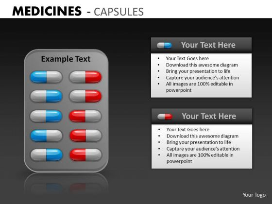 Editable Capsules Strips PowerPoint Slides