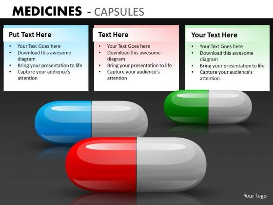 Editable Colors Medical Prescription Pills PowerPoint Slides