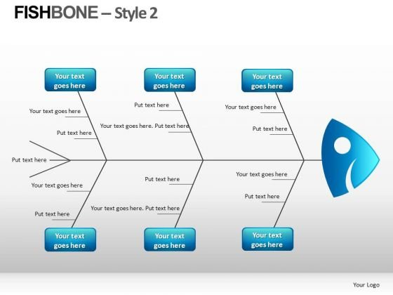 editable fishbone diagram powerpoint slides - powerpoint templates, Modern powerpoint