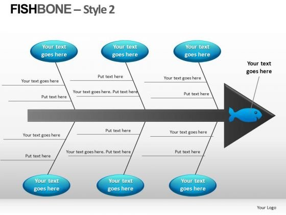 editable fishbone diagram powerpoint templates - powerpoint templates, Modern powerpoint