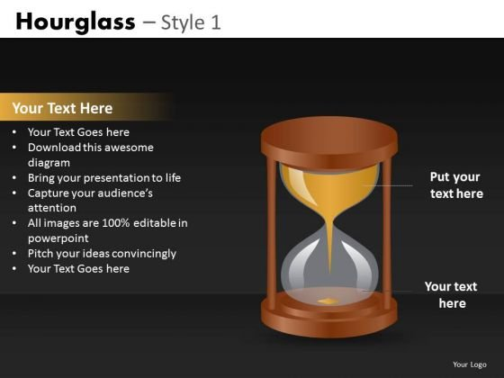 Editable Hourglass PowerPoint Ppt Slides