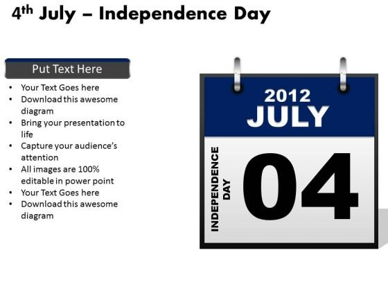 Editable Independence Day July 4th PowerPoint Templates