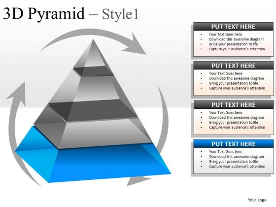 Editable Layers 3d Business Pyramid PowerPoint Slides And Ppt Diagrams Templates