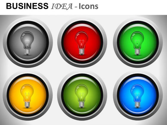 Editable Light Bulb PowerPoint Images