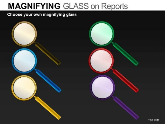 Editable Magnifying Glass Graphics PowerPoint Download