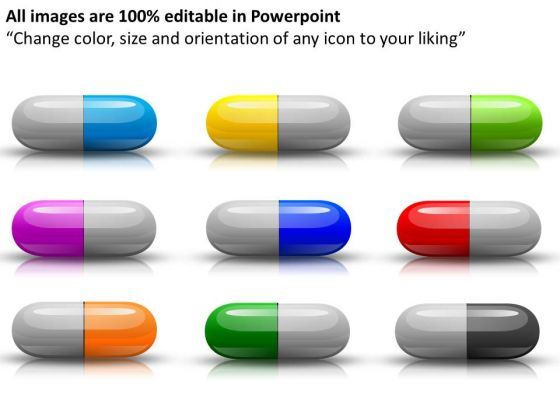 Editable Medical Capsules PowerPoint Slides And Ppt Diagram Templates