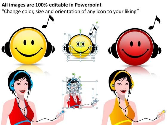 Editable Music Image Icons PowerPoint Ppt Templates