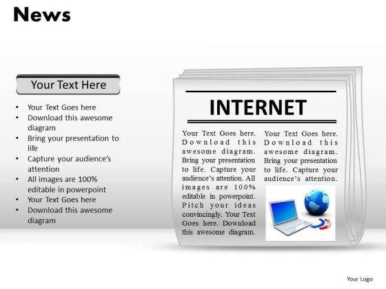 Editable Newspaper Layout PowerPoint Slides Ppt Templates