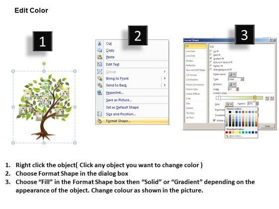 editable photos family tree powerpoint templates - powerpoint, Modern powerpoint