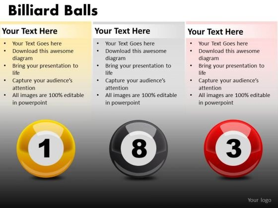 Editable Pool Balls PowerPoint Ppt Templates