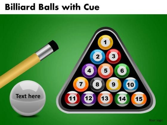 Editable Pool Balls Rack PowerPoint Ppt Slides