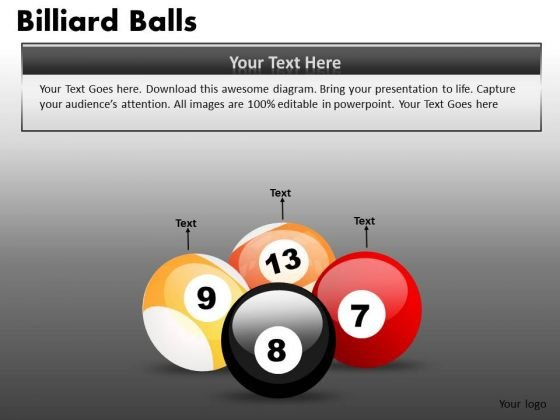Editable Pool Billiard Balls Clipart Graphics Slides