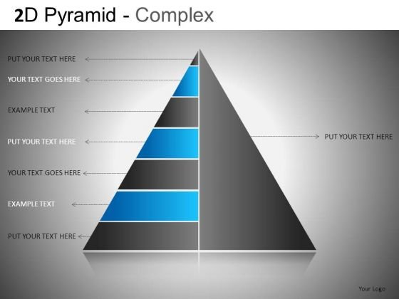 Editable PowerPoint Graphic Slide With 2d Pyramid Structure