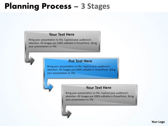 Editable PowerPoint Template Business Pre Ppt Model Of 3 Stages Image