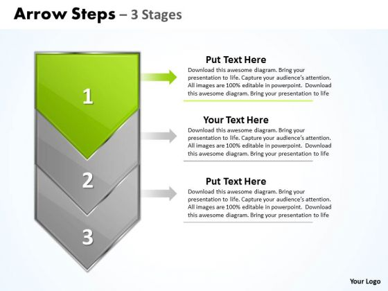 Editable Ppt Arrow 3 Stages 1 Time Management PowerPoint 2 Graphic