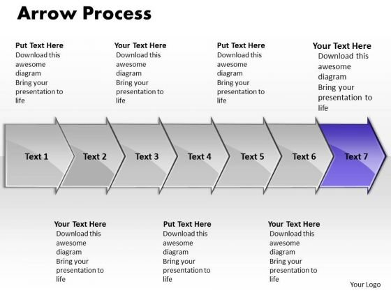 Editable Ppt Arrow Process 7 Power Point Stage Business Plan PowerPoint 8 Image