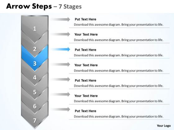 Editable Ppt Background Arrow 7 Stages 1 Project Management PowerPoint 4 Image