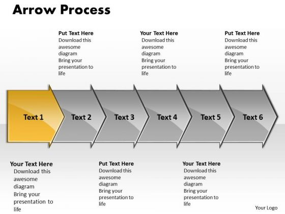 Editable Ppt Background Arrow Communication Process PowerPoint Presentation 6 Stages 2 Graphic